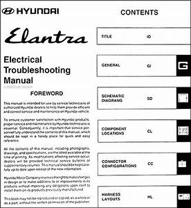 1997 Hyundai Elantra Electrical Troubleshooting Manual
