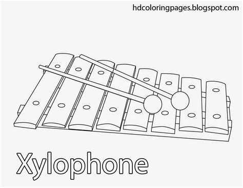 Coloring Xylophone by Xylophone Coloring Pages Kidsuki