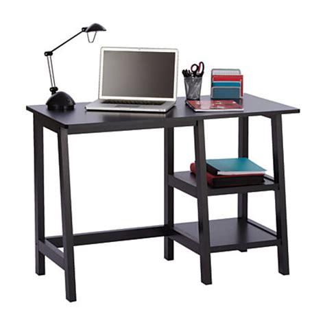 office max desk brenton studio donovan student desk black by office depot