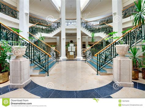 stairs  forged handrails royalty  stock images