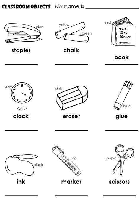 english lessons children lesson 2 classroom objects