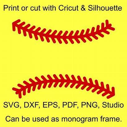 Softball Svg Baseball Stitches Cricut Laces Monogram
