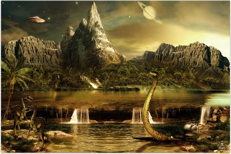 landscape  dinosaurs wallpapers  images