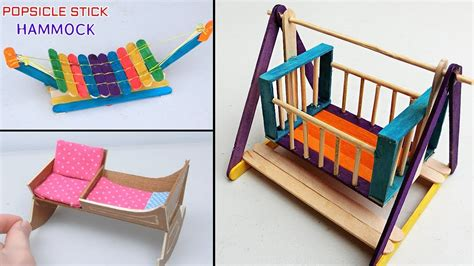 easy popsicle stick crafts miniature cradle