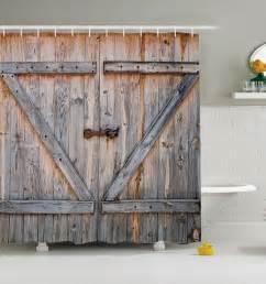 Kids Shower Curtain Hooks by Rustic Barn Door Shower Curtain Wood Plank Farm Vintage