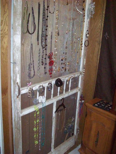 hanging screen door screen door used for hanging jewelery thanks to my