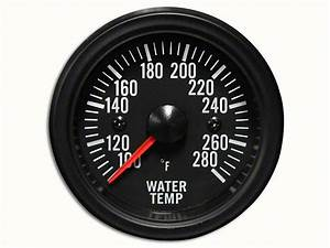 Prosport White Led Water Temperature Gauge