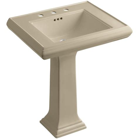 kohler archer vitreous china pedestal combo bathroom sink
