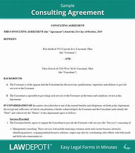 consulting agreement template us lawdepot With consulting fee agreement template