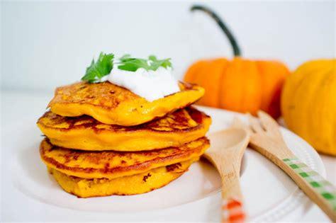 cuisiner un potiron godiche pancakes salés au potiron et coriandre godiche