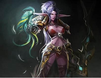 Elf Night Female Elves Fantasy Wallpapers Warcraft