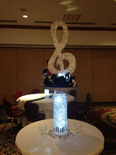 music themed table decorations treble clef music theme centerpiece bar mitzvah bar
