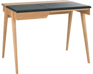 secretaire moderne bureau beckett petit bureau en chêne et cuir moderne meuble