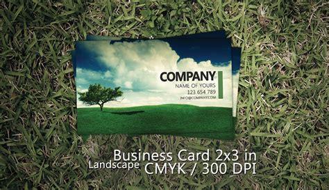 landscape business card psd  martz  deviantart