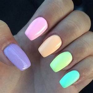 Colorful pastel nails pictures photos and images for