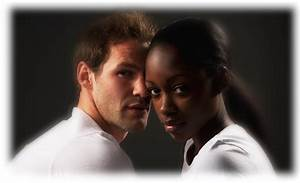 Ebony woman and ivory men