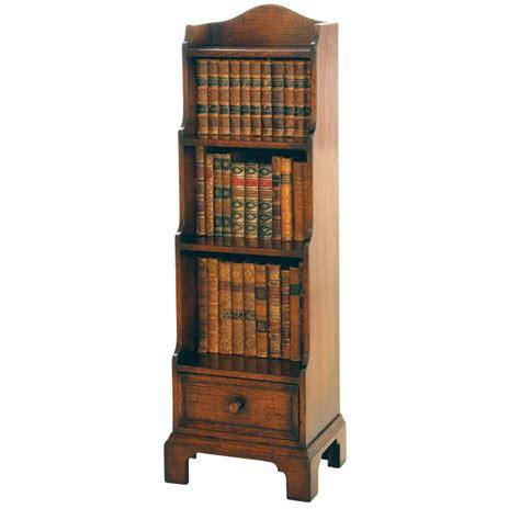 english oak miniature waterfall bookcase titchmarsh