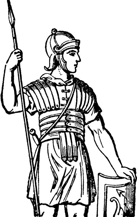 roman cuirass art armor clipart