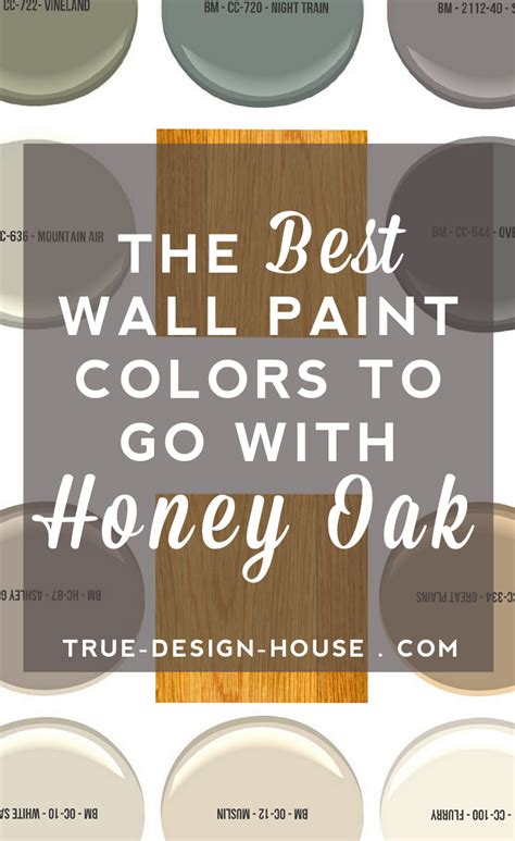 the best wall paint colors to go with honey oak domestic