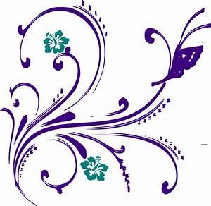 Flower/butterfly Clip Art at Clker.com - vector clip art ...