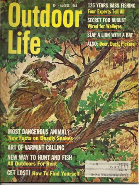 vintage outdoor life magazine august  good condition