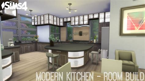 sims  modern kitchen room build youtube