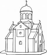 Church Coloring Pages Building Printable Empire State Drawing Medieval Outline Cathedral Drawings Jones Dome Getdrawings Indiana Denis Magdalena 2nd September sketch template