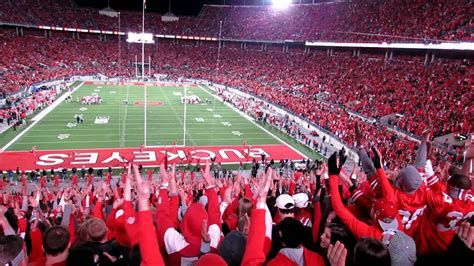 stand cheers  student section ohio state university