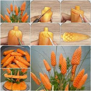 How to Carve Carrot Flowers step by step DIY tutorial ...