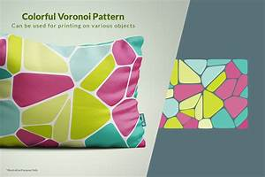 Voronoi Diagram Vector Backgrounds In Patterns On Yellow