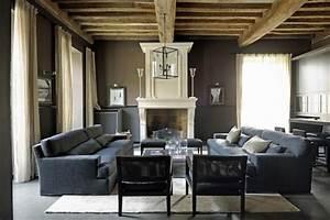 salon avec canape cendre berengere leroy photo n07 With tapis de yoga avec canape cuir style ancien
