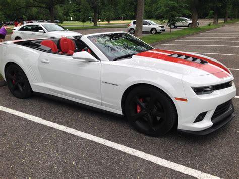 ss white red stripes convertible extras camaro chevy camaro forum camaro zl ss