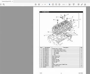Kubota Engine Series V Parts Manual