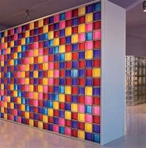 Brique De Verre Couleur : briques de verre couleur pour int rieurs ou ext verrelab ~ Melissatoandfro.com Idées de Décoration