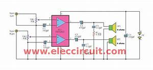 Free Wiring Diagram  Tda2822 Mono Amplifier Circuit