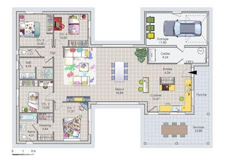 plan maison 120m2 3 chambres exceptionnel plan maison 120m2 3 chambres 6 maison de