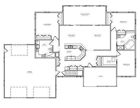room floor plans great room house plan split bedroom great room house plan with 3 car garage the house plan site