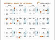 Feiertage 2017 MeckPomm + Kalender