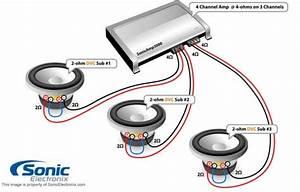 Bridged Subwoofer Amplifier Installation Diagram