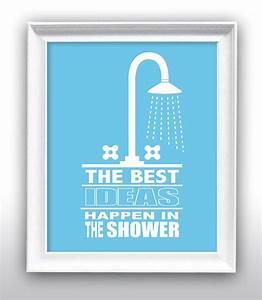 "Bathroom Wall Decor, Bathroom Art, Shower, ""Best Ideas"