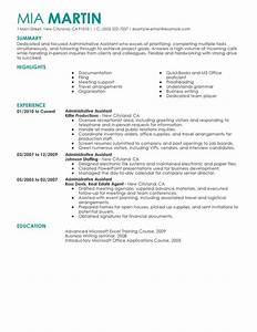 Unforgettable administrative assistant resume examples to for Free administrative assistant resume templates