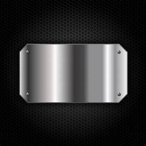 Plaque De Metal : plaque de m tal sur fond m tallique t l charger des vecteurs gratuitement ~ Teatrodelosmanantiales.com Idées de Décoration