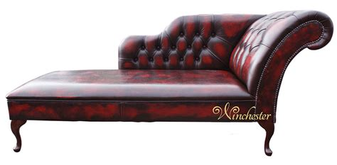 chaise chesterfield chesterfield leather chaise lounge day bed antique oxblood
