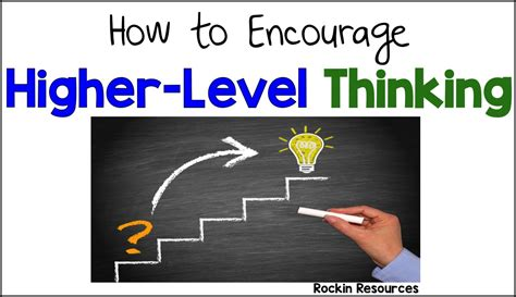 How To Encourage Highlevel Thinking  Minds In Bloom