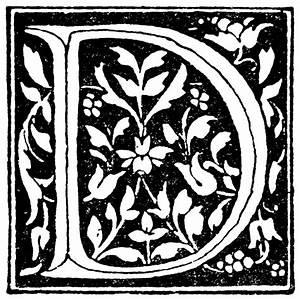 fancy letter d clipart clipart suggest With decorative letter d