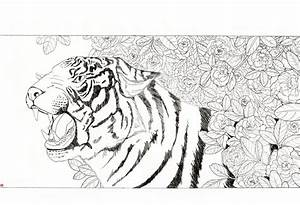 chinese tiger flowers by Rijio on DeviantArt