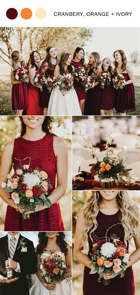 wedding fall colors best 25 cranberry wedding ideas on cranberry