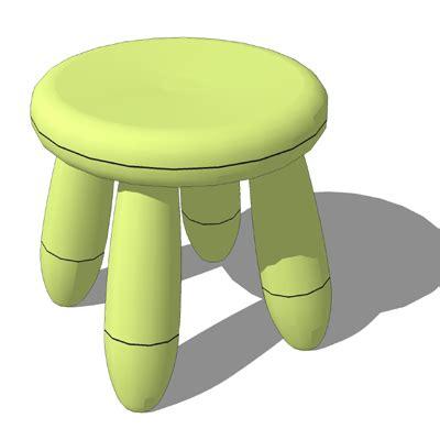 Mammut Stool - ikea mammut tables chairs 3d model formfonts 3d models
