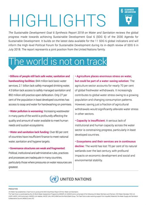 Highlights - SDG 6 Synthesis Report 2018 on Water and ...