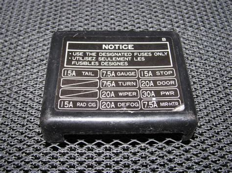 87 Rx7 Fuse Box by 91 92 93 94 95 Toyota Mr2 Oem Interior Fuse Box Cover
